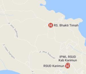 daftar alamat dan nomor telepon rumah sakit di tanjung balai karimun Propinsi Kepri