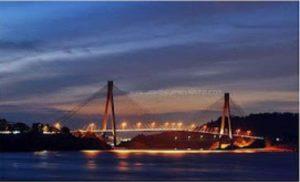 poto Jembatan Barelang 1 Batam Di Malam Hari