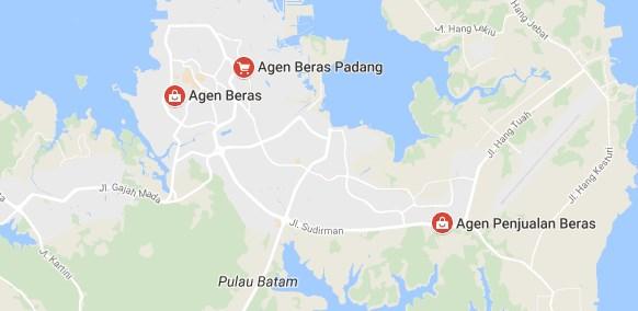 Peta lokasi agen beras di batam